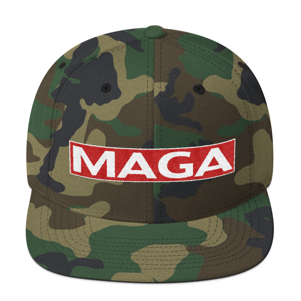 Camo Make America Great Again MAGA Wool Blend Snapback - Miss Deplorable