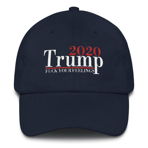 Donald Trump 2020 Fuck Your Feelings Baseball Hat for $45.00 at Miss Deplorable