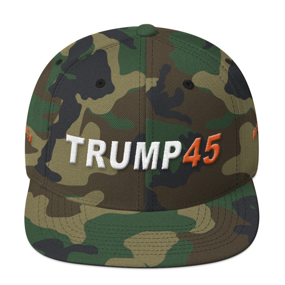Camo Trump 45 Make America Great Again MAGA Donald Trump Cap - Miss Deplorable