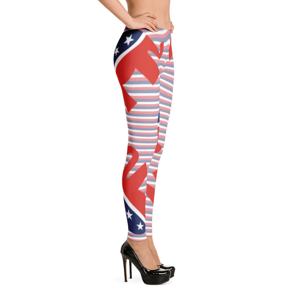 Republican Elephant Patriotic American Leggings - Miss Deplorable