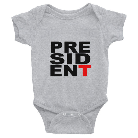 President Donald Trump t -shirt Infant short sleeve one-piece - Miss Deplorable