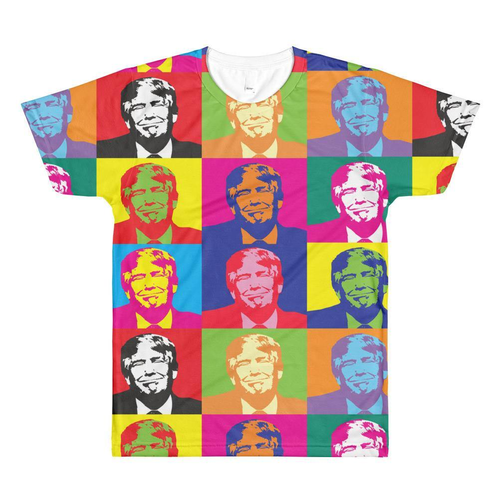 Andy Warhol Style Sublimation men's crewneck t-shirt - Miss Deplorable