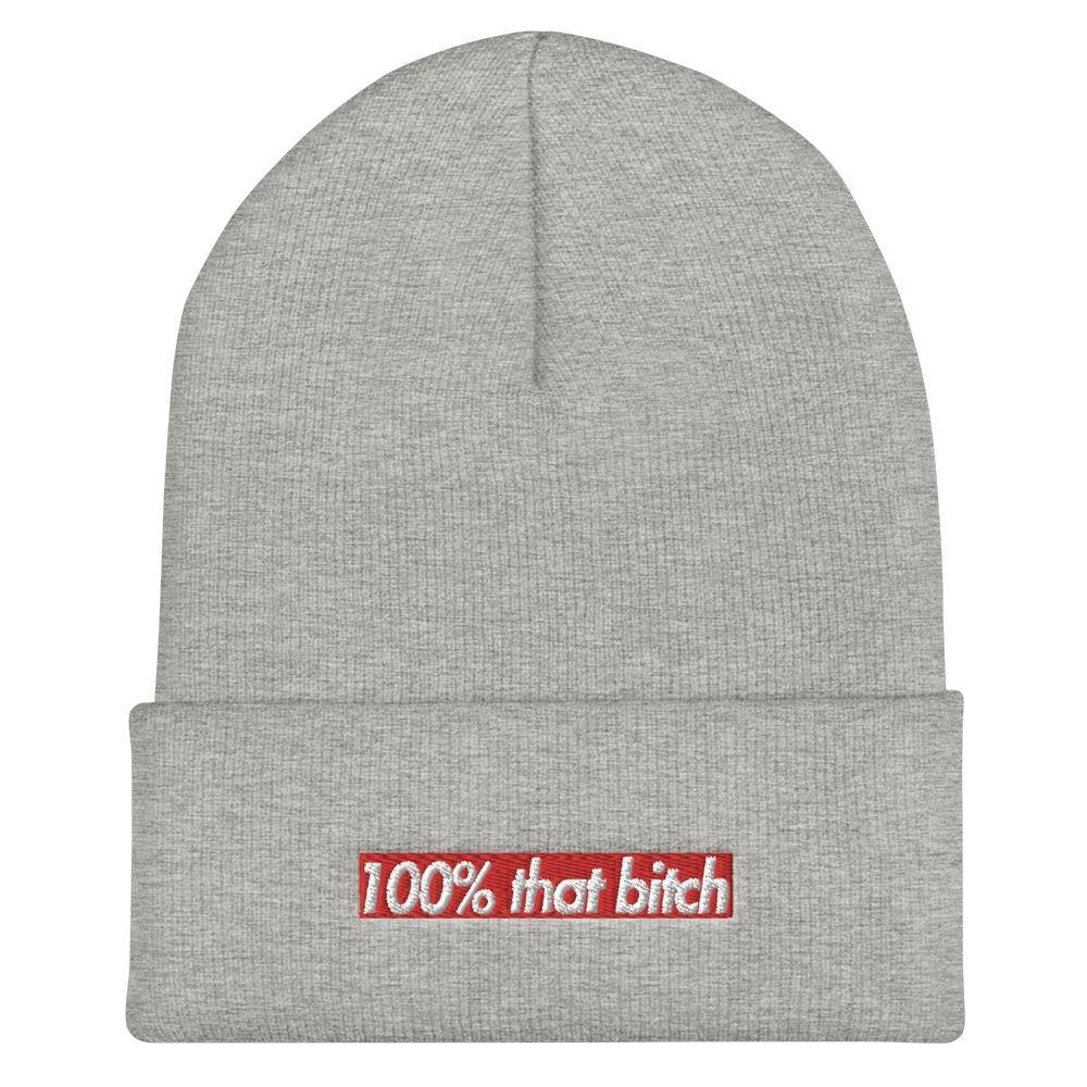 100% That Bitch Cuffed Beanie - That Bitch Beanie Hat - Miss Deplorable