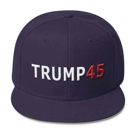 Trump 45 Snapback Hat for $32.00 at Miss Deplorable