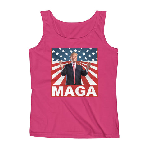 "Make America Great Again ""MAGA"" Ladies' Tank for $21.50 at Miss Deplorable"