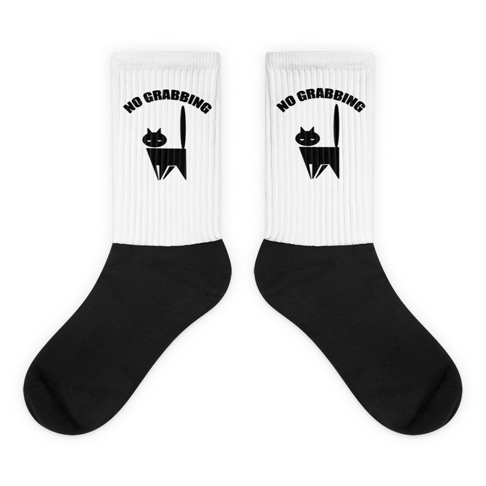 No Grabbing Pussy Cat Donald Trump Black foot socks - Miss Deplorable