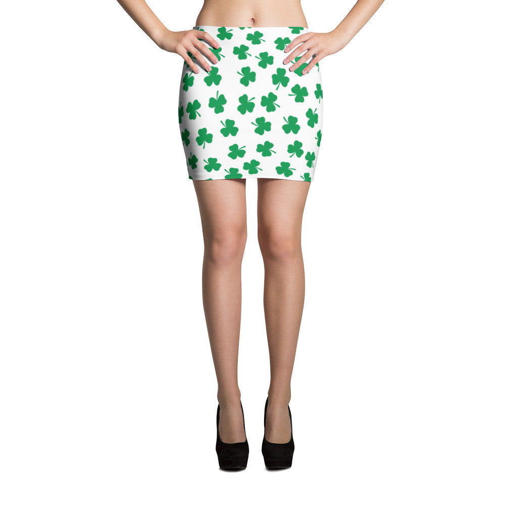 Irish Four Leaf Clover St Patricks Day Mini Skirt - Miss Deplorable