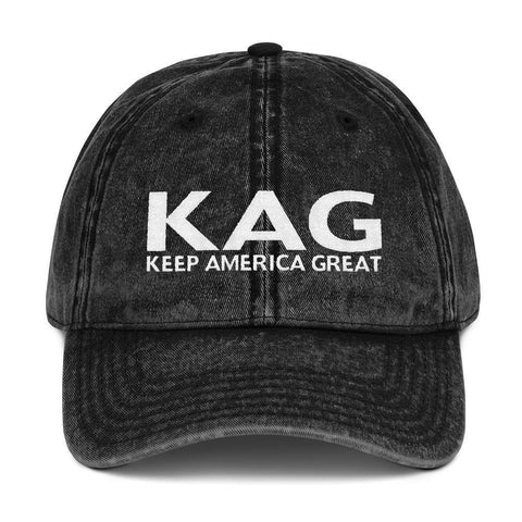 "Donald Trump Keep America Great ""KAG"" Vintage Cotton Twill Cap - Miss Deplorable"