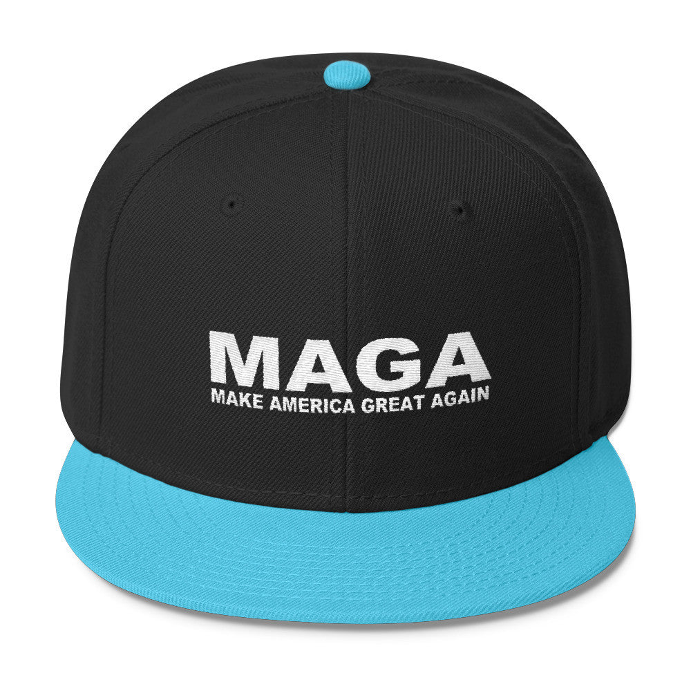 Make America Great Again Snapback Cap Aqua Blue - Miss Deplorable