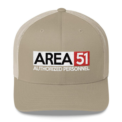Area 51 Trucker Hat - Storm Area 51 Hats - Authorized Personnel CrewneckTrucker Cap - Miss Deplorable