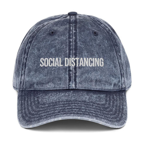 Social Distancing Hat - Vintage Cotton Baseball Twill Cap - Miss Deplorable