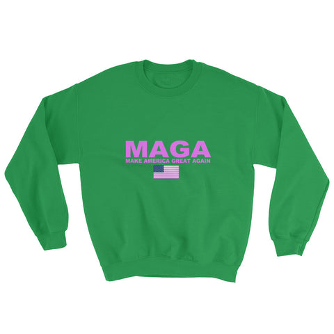 Donald Trump Make America Great Again Pink MAGA Sweatshirt - Miss Deplorable
