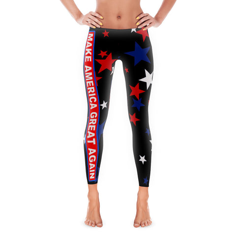 Make America Great Again Patriot Leggings - Miss Deplorable