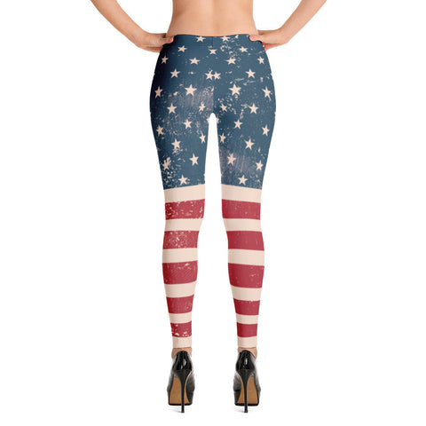 Vintage American Flag USA Leggings for $0.49 at Miss Deplorable