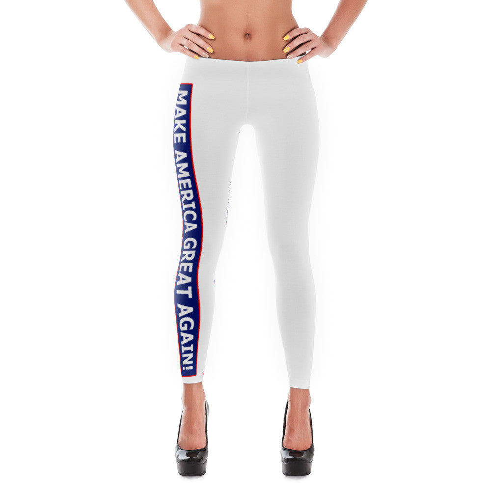 Make America Great Again Leggings White - Miss Deplorable