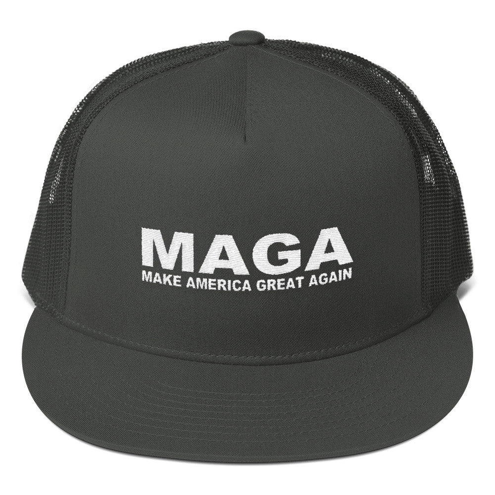 Make America Great Again Charcoal Snapback Cap - Miss Deplorable