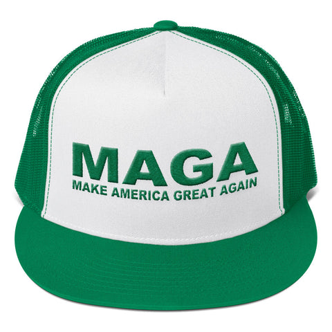 Buy Make America Great Again MAGA Donald Trump Trucker Cap Green at Miss  Deplorable for only  32.00 9b4bc9d0a96
