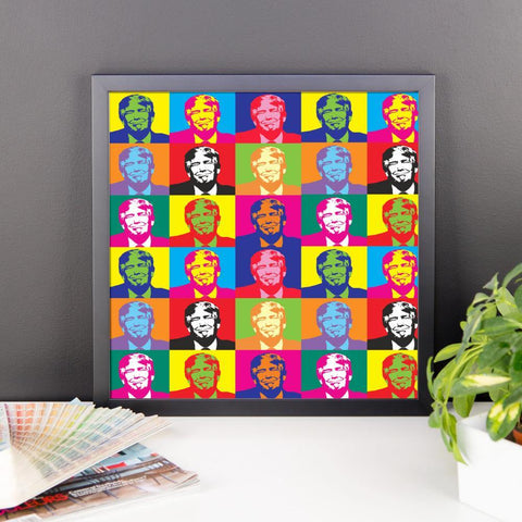 Andy Warhol Framed Donald Trump Poster for $34.50 at Miss Deplorable