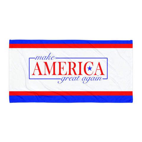 Make America Great Again Beach Towel Throw Blanket for $0.40 at Miss Deplorable