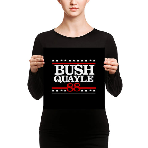 President George H W Bush Senior Campaign Canvas - Miss Deplorable