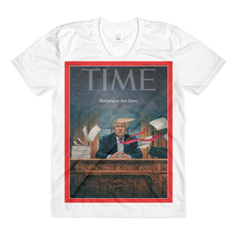 Donald Trump Time Magazine Cover Feb 17 Female T-Shirt for $32.50 at Miss Deplorable