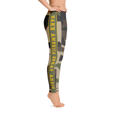 Make America Great Again MAGA Camo Leggings - Miss Deplorable