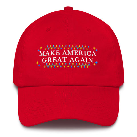 Make America Great Again Merry Christmas MAGA Cotton Cap