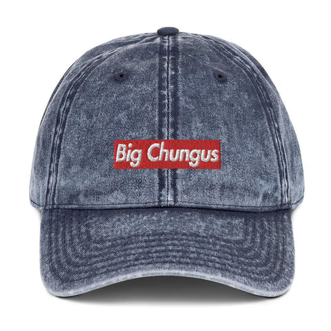 Big Chungus Vintage Hat - Meme Cap - Funny Meme Baseball Cap - Miss Deplorable