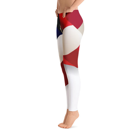 Statement American Flag Leggings Red White Blue - Miss Deplorable