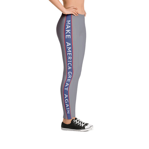 Make America Great Again Charcoal Leggings - Miss Deplorable