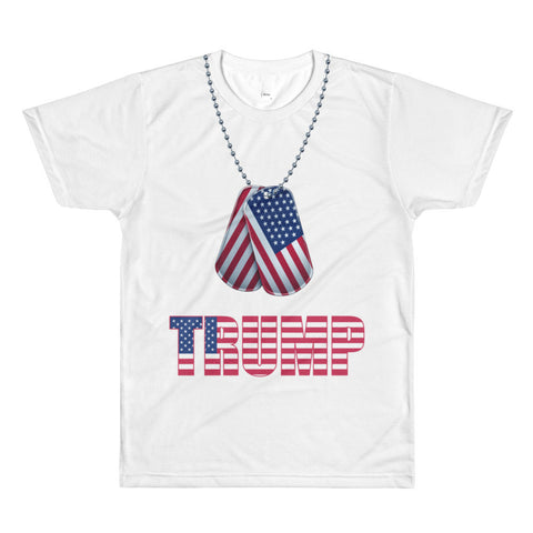 Donald Trump Shirt | American Dog Tag White Unisex Tee for $0.32 at Miss Deplorable