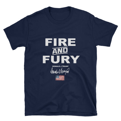 Donald Trump Fire And Fury Mens T shirt - Miss Deplorable