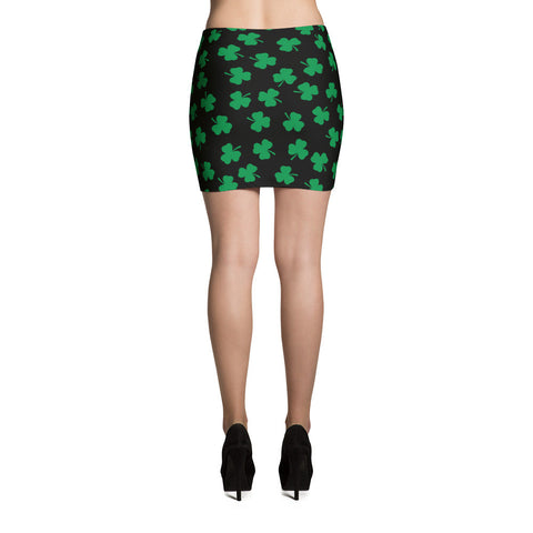 Irish Four Leaf Clover Mini Skirt - Miss Deplorable