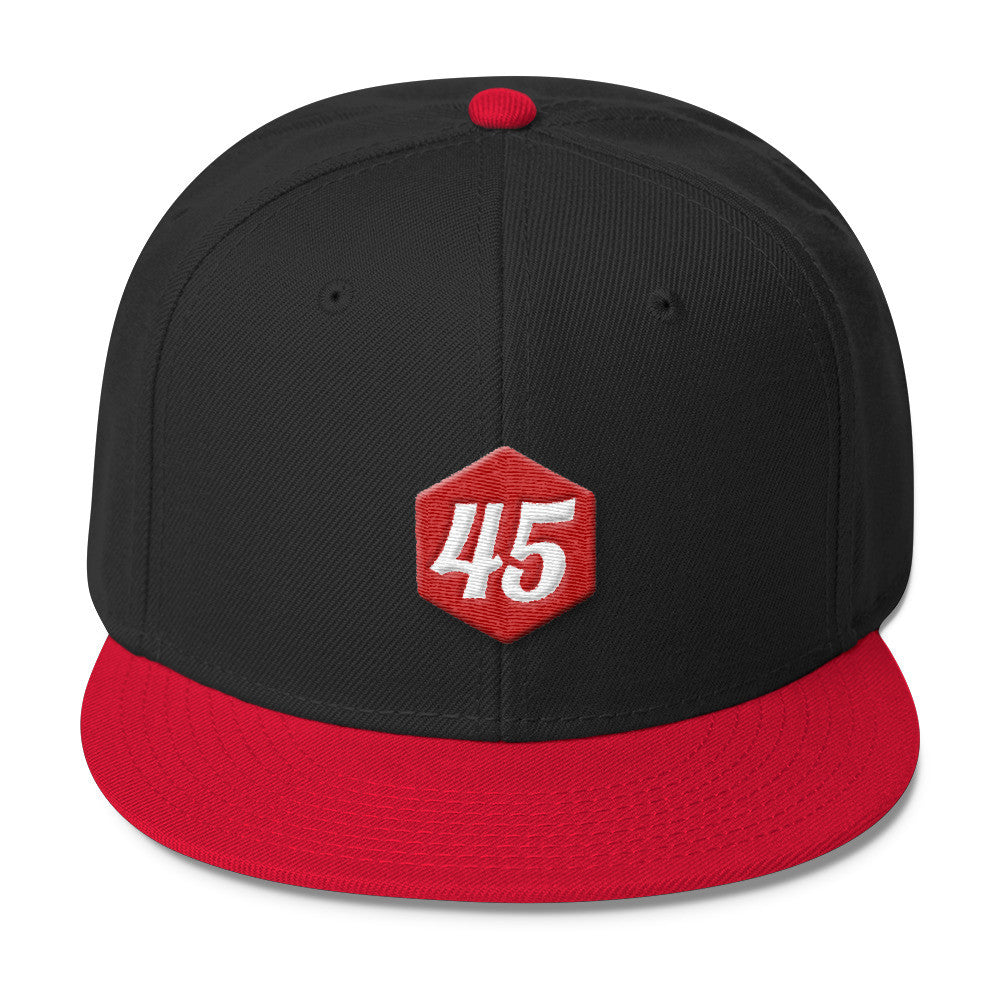 Donald Trump 45 Wool Blend Snapback for $32.00 at Miss Deplorable