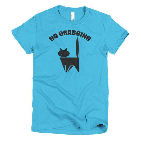 No Grabbing Pussy Cat Short sleeve Donald Trump women's t-shirt - Miss Deplorable