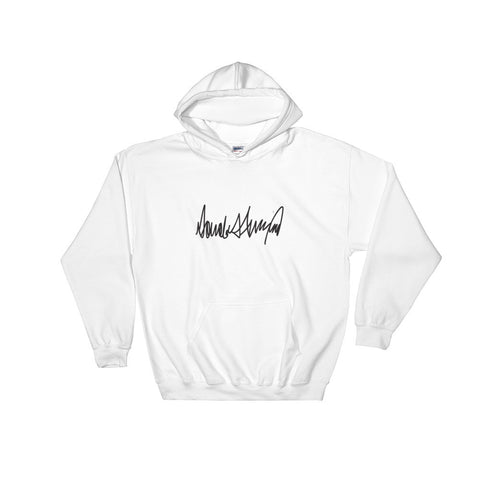 Donald Trumps Autograph Hooded Sweatshirt for $0.39 at Miss Deplorable