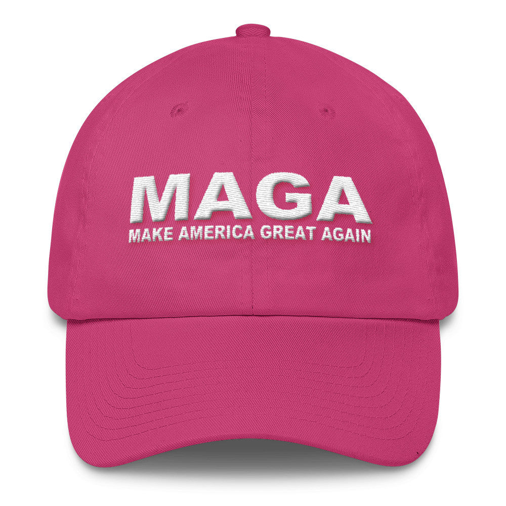Make America Great Again Donald Trump Womens Cotton Cap Pink - Miss Deplorable