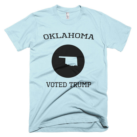 Oklahoma Voted Trump Short sleeve Donald Trump men's t-shirt - Miss Deplorable