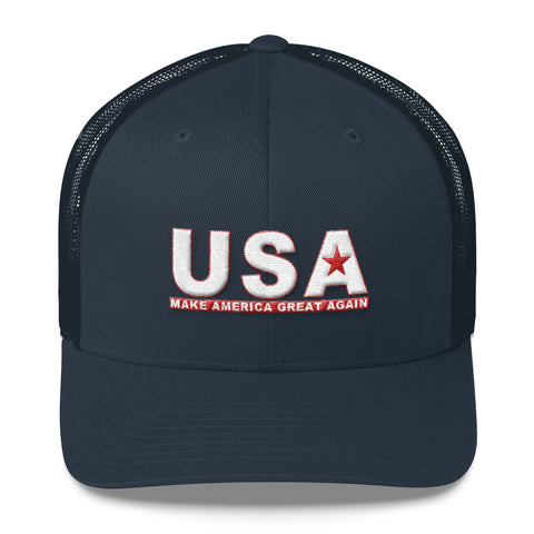 Make America Great Again MAGA Retro Trucker Cap