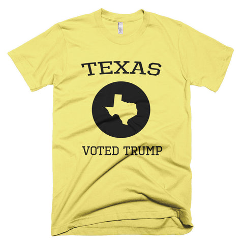 Texas Voted Donald Trump Short sleeve men's t-shirt - Miss Deplorable