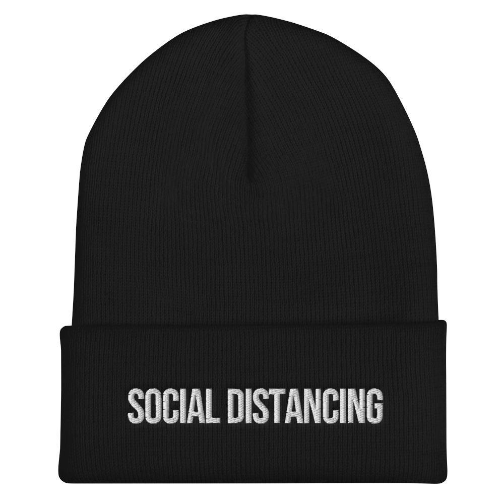 Social Distancing Hat - Social Distancing Cuffed Beanie - Miss Deplorable
