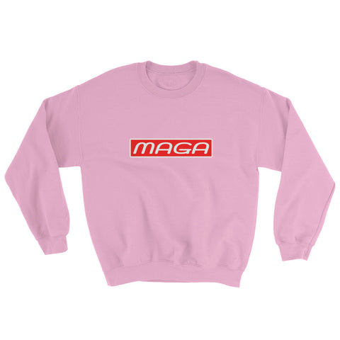 Donald Trump Red White MAGA Motif Sweatshirt - Miss Deplorable