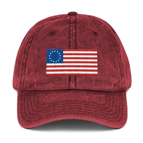 Betsy Ross Flag Vintage Baseball Hat - Miss Deplorable