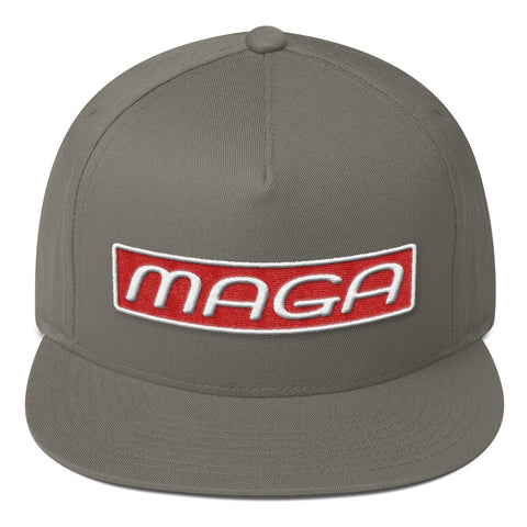MAGA Make America Great Again Flat Bill Cap for $33.00 at Miss Deplorable