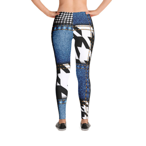 Blue Jeans Denim Leggings - Miss Deplorable