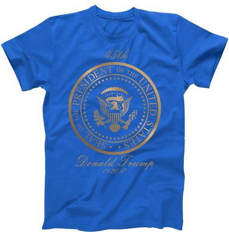 Donald Trump Gold Seal - 45th President Inauguration Day 2017 Mens Tee - Miss Deplorable