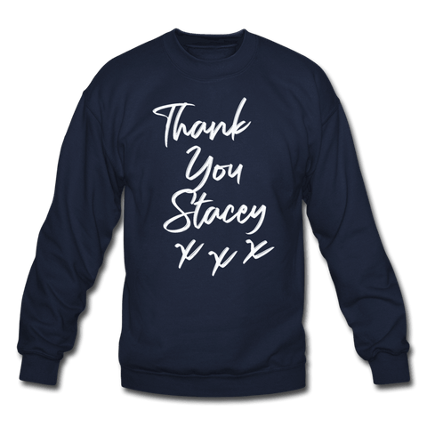 Thank You Stacey Sweatshirt (MD SPD) - navy