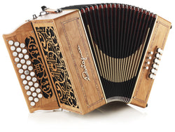 Castagnari - Handry 12 - Melodeon / Diatonic Accordion - 3 row, 33 buttons, 12 bass, 3 voice -Squeezeboxes
