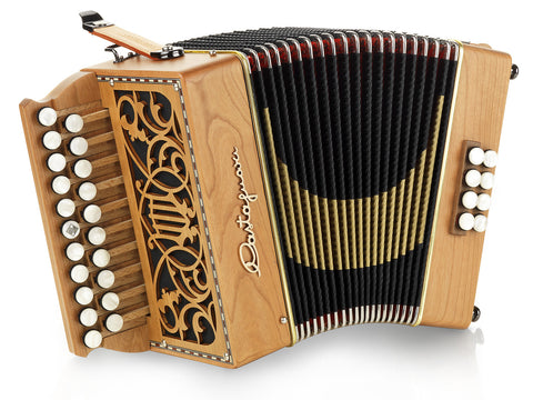 Castagnari - Lilly - Melodeon / Diatonic Accordion - 2 row, 1 voice, 8 bass, 21 button, cherry - Squeezeboxes
