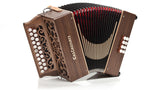 Castagnari - Studio - 2 row - 2 voice - 8 bass - diatonic accordion -  walnut